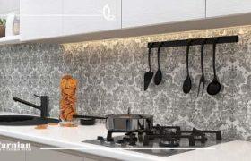 آشپزخانه لوکس با کاشی مدرن